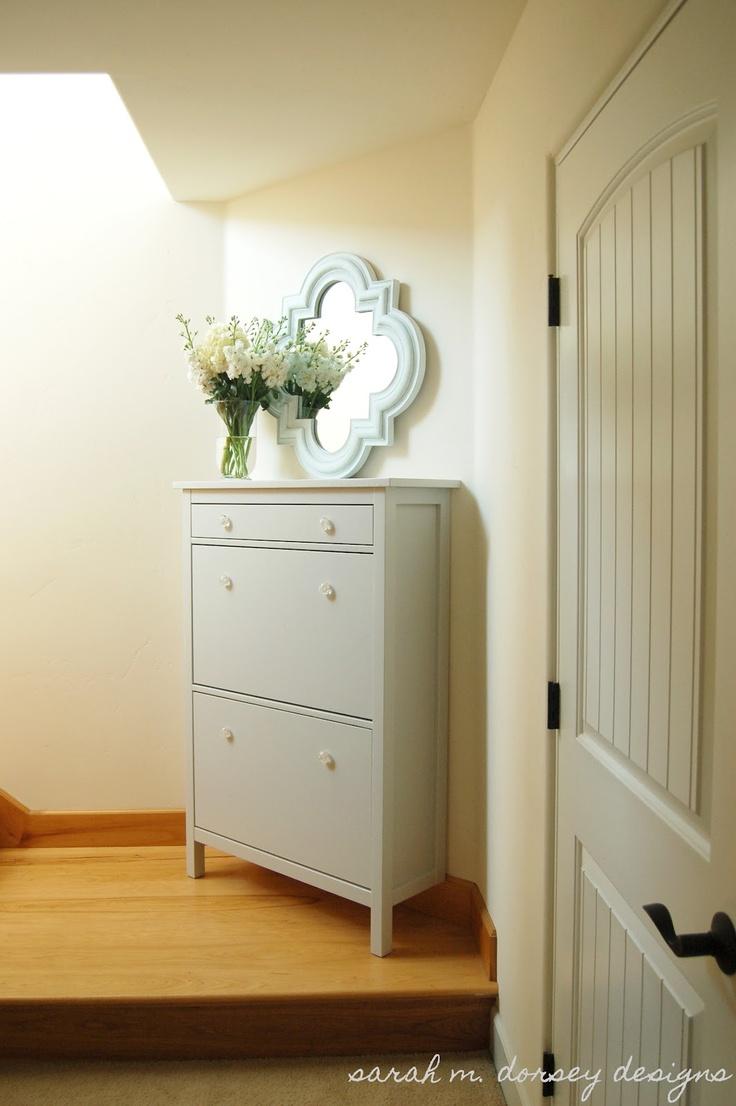 Ikea Hemnes shoe cabinet via sarah m. dorsey designs