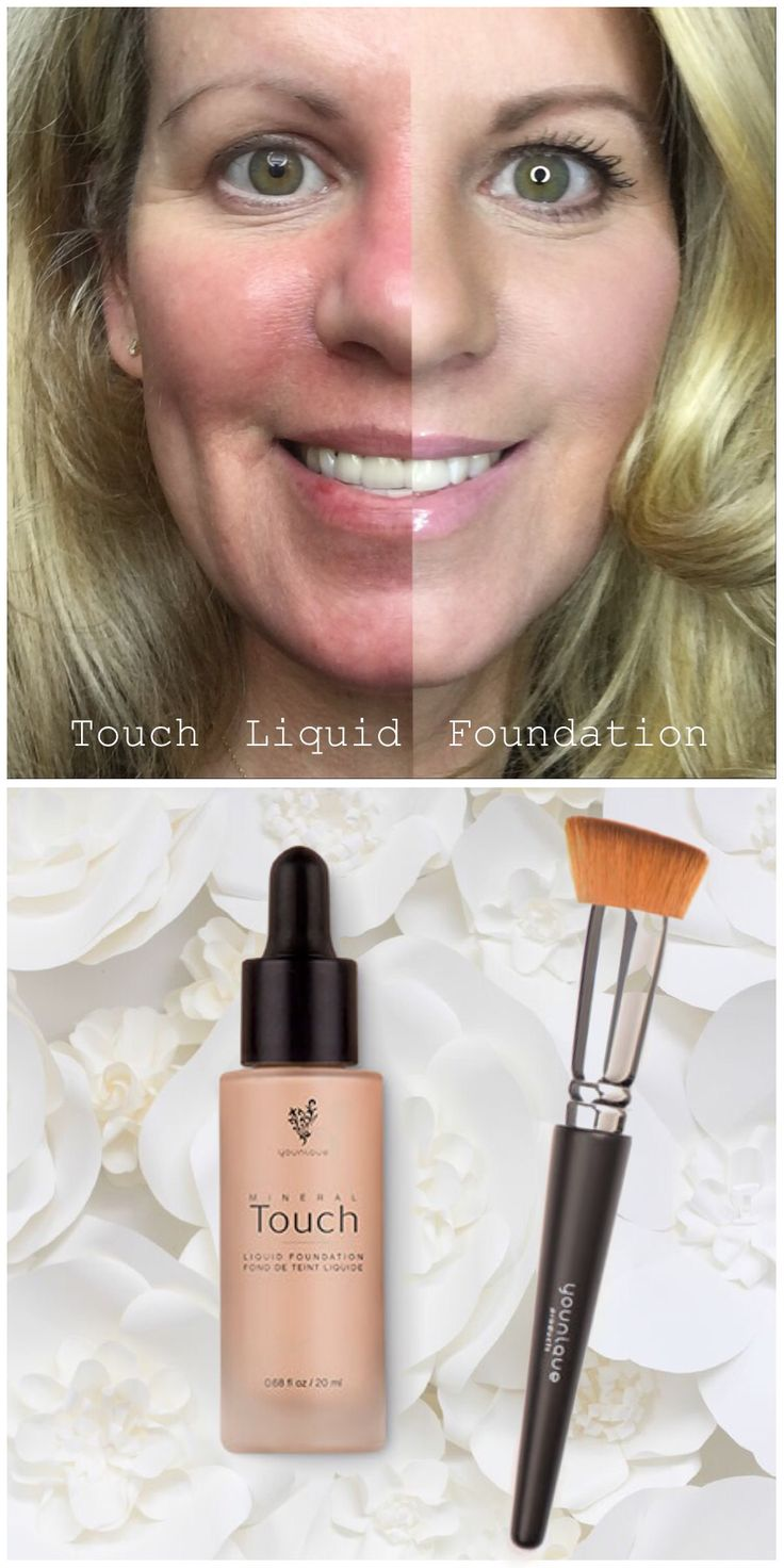 Younique Mineral Touch Liquid Foundation. Goes on as a liquid and dries to a matte powder finish.
