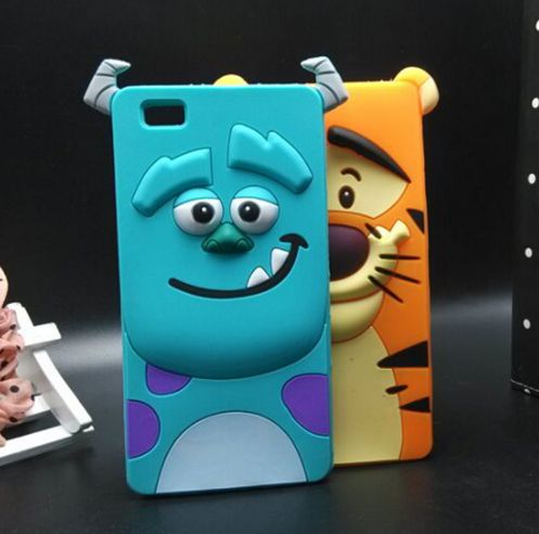 "Phone Cover For Huawei P8 Mini 5.0"" 3D Cartoon Character Suelly Tiger Soft Silicone Case For Huawei P8 Lite"