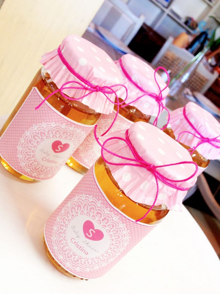 Honey Mason Jars, Girl Baby Shower Favor