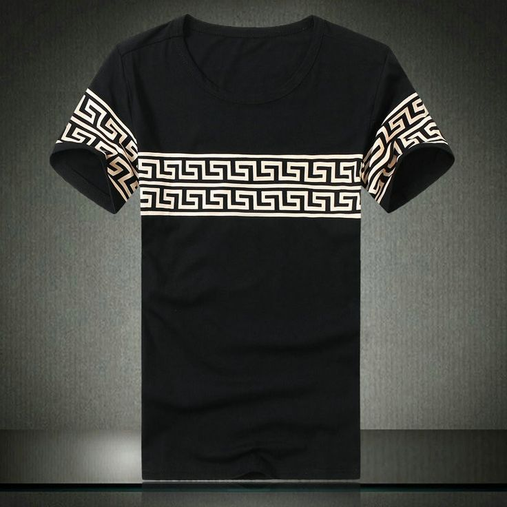 Chinese Style Black Cotton Round Collar Plus Size T-shirt for Men - iDreamMart.com