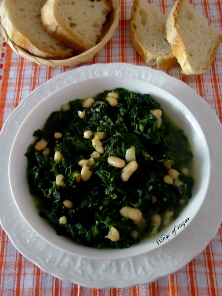 Spinach soup and beans - wings of sugar blog (google translation in the blog)           Zuppa di spinaci e fagioli - wings of sugar blog
