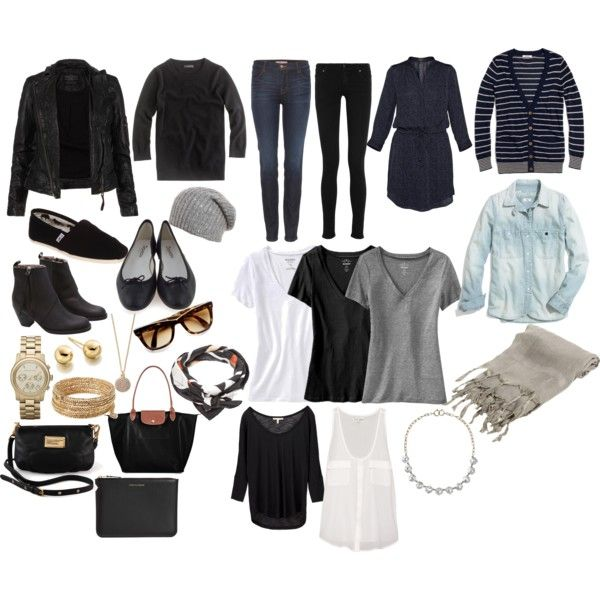 """pack light / only use a carry-on: """"Minimalist Packing"""" by jessica5eme on Polyvore"""