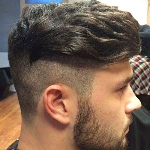 Disconnected Haircut - Undercut with Long Combed Over Hair and Beard