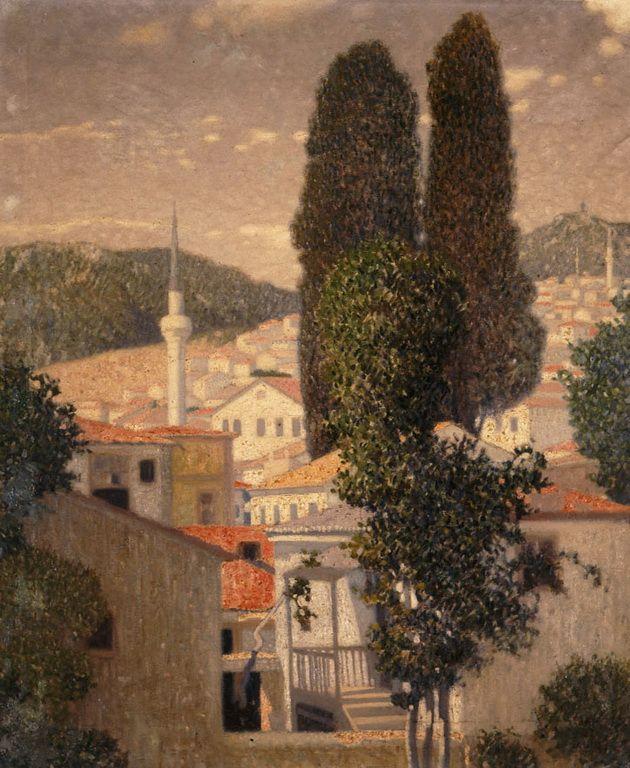 Παρθένης Κωνσταντίνος-Τοπίο από την Καβάλα, π. 1904