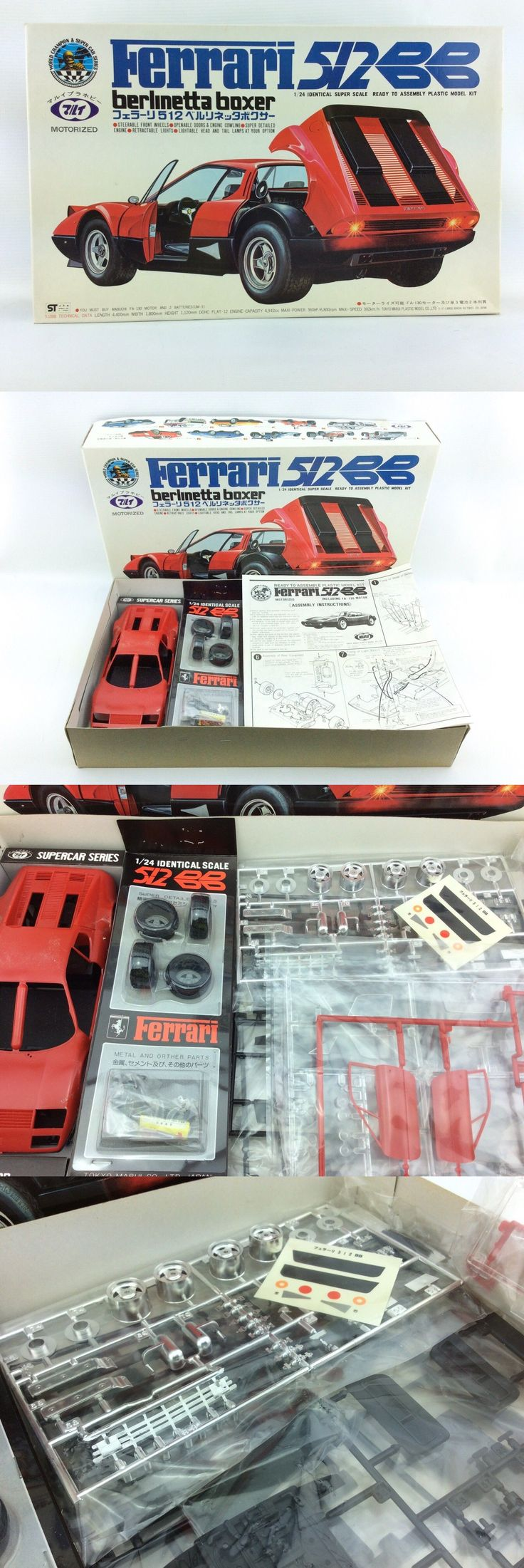 1 24 Scale 145974: New Nib Tokyo Marui Ferrari 512 Bb Berlinetta Boxer 1 24 Mt-77-S12-800 Tilt -> BUY IT NOW ONLY: $89 on eBay!