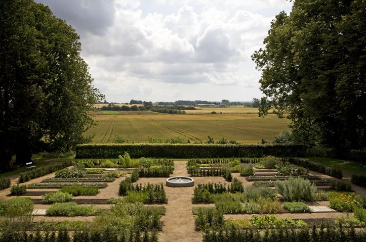 The herb garden of Dragsholm Castle. This is where Claus Henriksen grows his own fresh herbs, which he uses in the castles restaurant: Slotskøkkenet. www.dragsholm-slot.dk