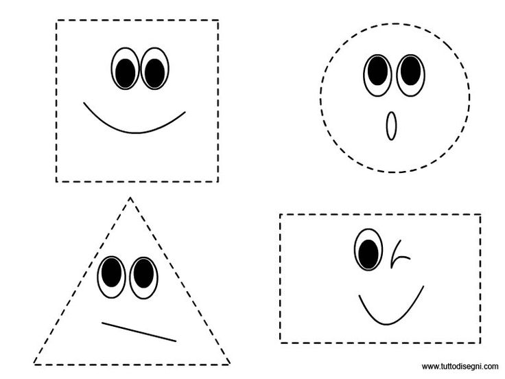 Figure geometriche da ritagliare - TuttoDisegni.com