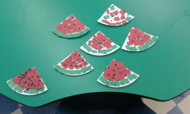 Watermelon wedges for letter W | Project Recycle | Pinterest | Letter ...