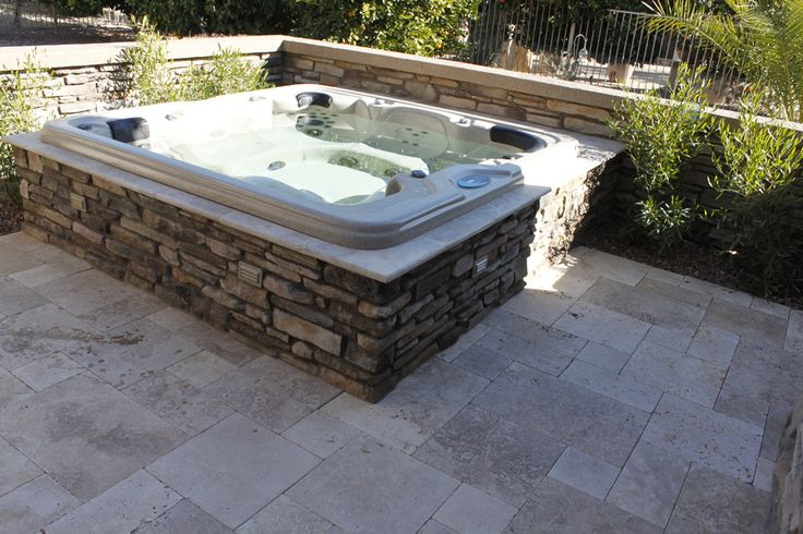 In ground spa hot tub in ground spa hot tub in arizona for Jacuzzi exterior 4 personas