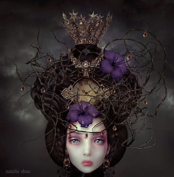 i adore natalie shau's ladies... mysterious, somber, lovely