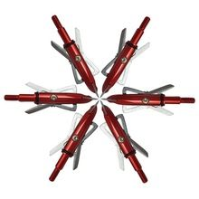 2017 Top Sprzedaży Czerwony 6 sztuk/partii 100 Ziarna 2 Blade Wędkowanie Polowanie Strzałka Grot Głowy Łuk(China (Mainland))