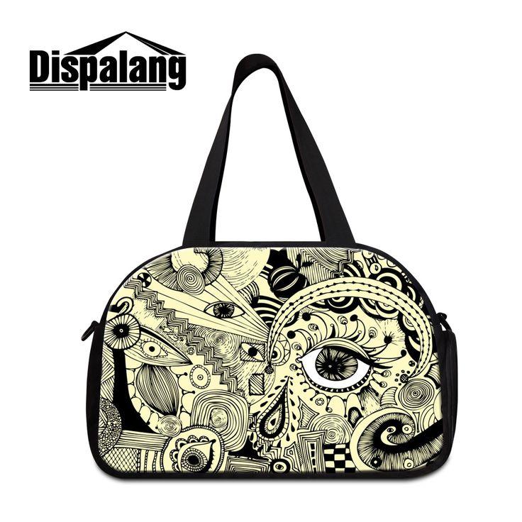 Dispalang 3D artistic eye prints duffel bags for women high quality brand designer travel bag for men woman luggage duffle totes