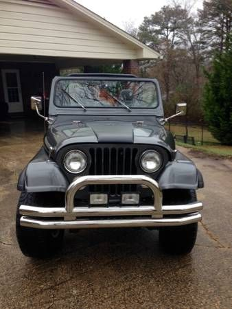 Putting this beauty on here just to see what happens. 1976 Jeep CJ7 (have title) with the original steel body and original running 304 v8 and the 3 speed transmission. She also has holly carb with...
