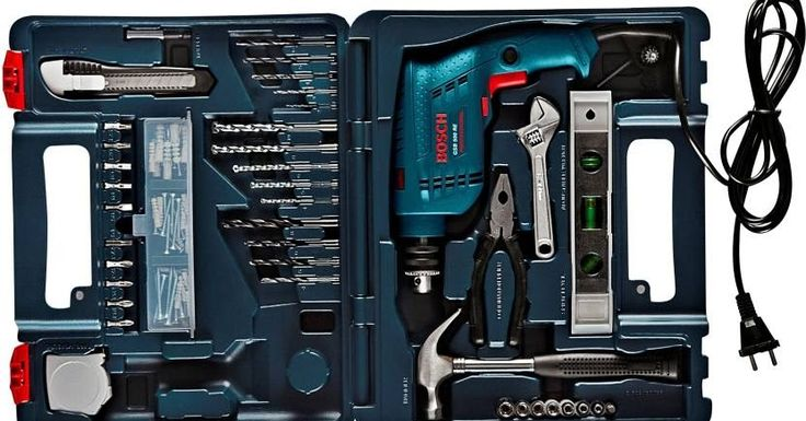 Best - Hand Tool Kit Power Tool Kit Home Tool Kit by Bosch for Home & Industry which you must have  Bosch GSB 500 RE Power & Hand Tool Kit(92 Tools)  For visitors from USATap itfor Bosch Hand Tool Kits&Tap itBosch Power Tools for Professional  4.3  18726 Ratings&3325 Reviews  4.3    18727Ratings  3325Reviews  5  10774  4  5248  3  1570  2  478  1  657  Description  An assortment of the most commonly used tools comes in a neat and compact suitcase from Bosch. Use this multipurpose kit for…