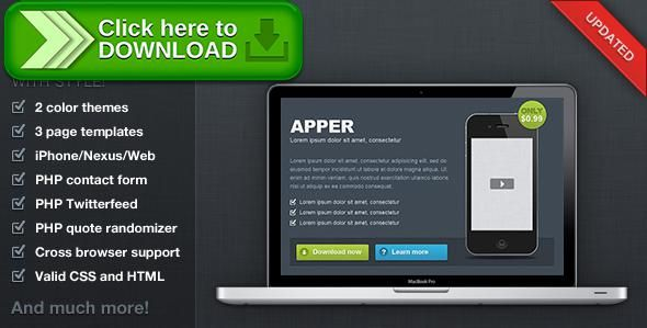 [ThemeForest]Free nulled download Apper - App Presentation Template from http://zippyfile.download/f.php?id=1821 Tags: android app, apple, applications, blackberry, dark, iphone app, jquery, light, linen, mac, mobile app, php contact form, professional, random quotes, web apps