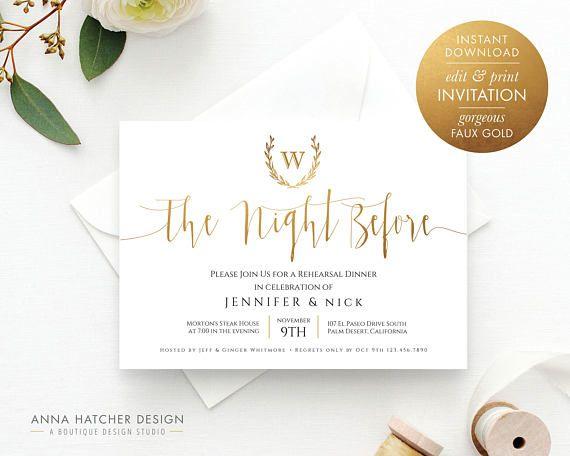Pre Wedding Dinner Invitation: Best 25+ Night Before Wedding Ideas On Pinterest
