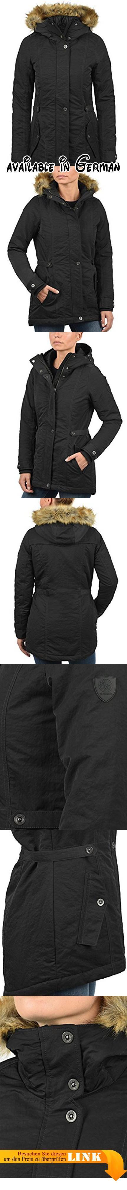 B075Z4VYQQ : DESIRES Jana Damen Parka lange Jacke Winter-Mantel mit Kapuze und Fellkragen aus hochwertiger Materialqualität Größe:XL Farbe:Black (9000). HOCHWERTIG: Femininer robuster und kuschelweicher Damen Parka von DESIRES aus mittelschwer gefüttertem Material. DETAILS & HIGHLIGHTS: Kapuze mit Tunnelzug und abnehmbarem Fellkragen (Reißverschluss) zwei seitliche Eingriffstaschen mit Druckknöpfen Kunststoff- Patch auf dem Linken Ärmel verstellbarer Taillenumfang