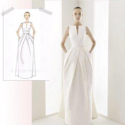 Clean modern minimalist wedding dress minimalist wedding for Clean my wedding dress