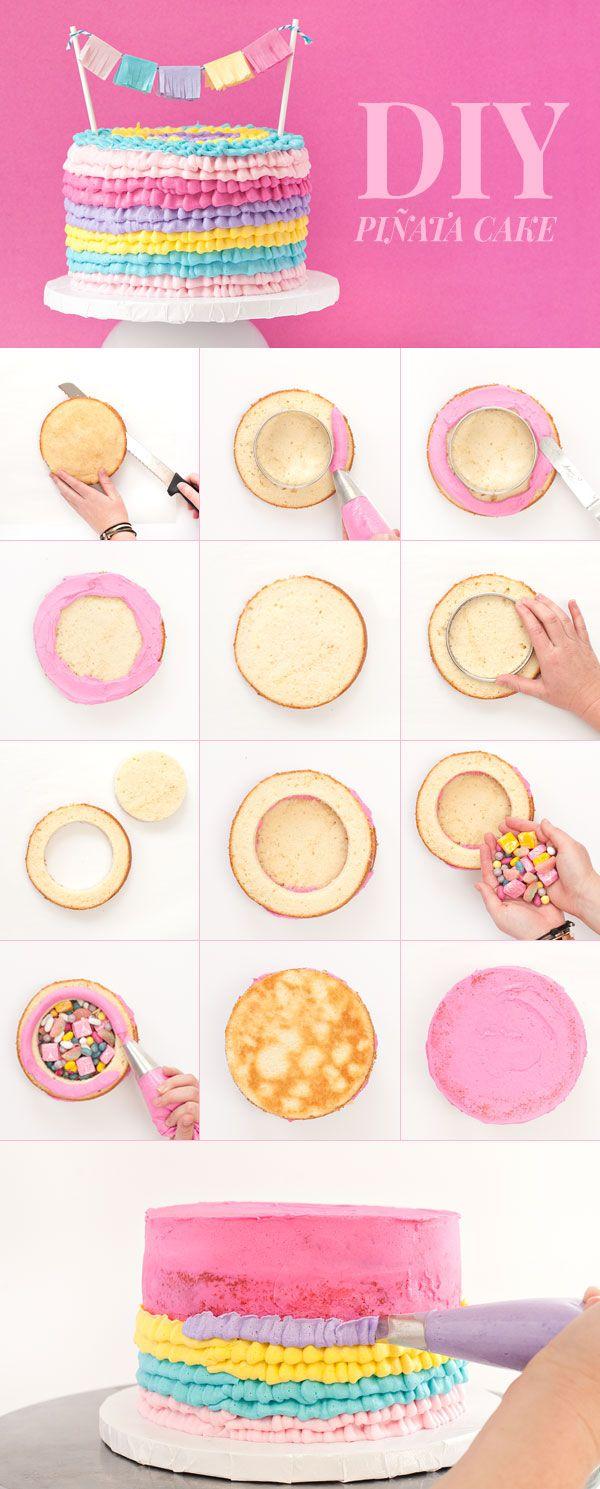 DIY Piñata Cake | Sprinkles for Breakfast