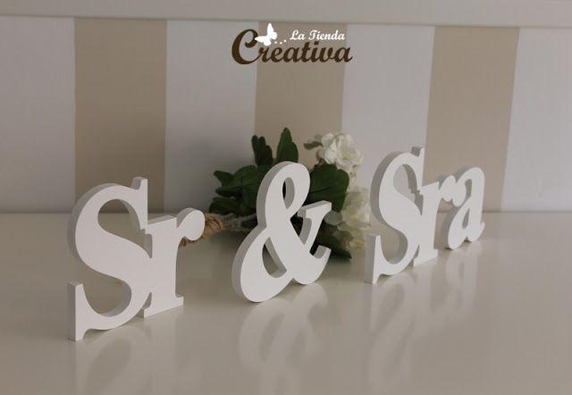 Letras para bodas - Sr