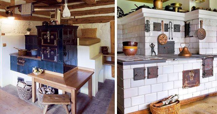Praktický pomocník sa stáva štýlovým prvkom interiéru. Kachľové pece a sporáky - dominantou vidieckych kuchýň nielen našich starých mám. Kachle, piecky
