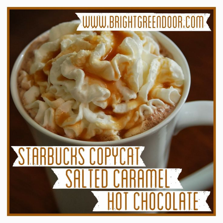 Starbucks Copycat Salted Caramel Hot Chocolate