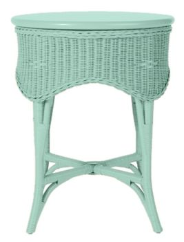 Wicker Table by Maine Cottage | Celia Tall End Table #wickerfurniture