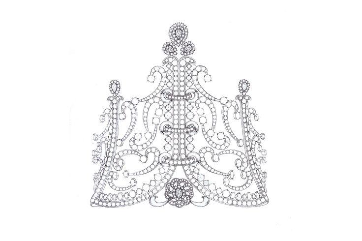 2014 미스 월드 코리아 왕관 디자인 스케치 #missworld #korea #tiara #veluce