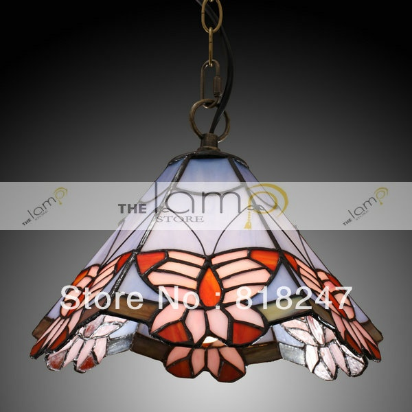 free shipping Tiffany Pendant Light with Butterfly Pattern from the lamp store-in Pendant Lights from Lights & Lighting on Aliexpress.com