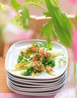 Flusskrebs-Spargel-Salat - Salate, die nach Frühling schmecken - [LIVING AT HOME]