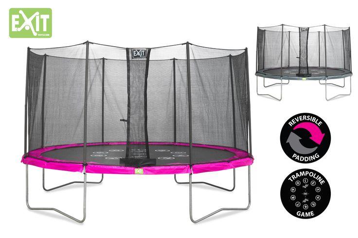 Trampoline Reversible Rose Et Gris Twist 12 au meilleur prix! - LeKingStore