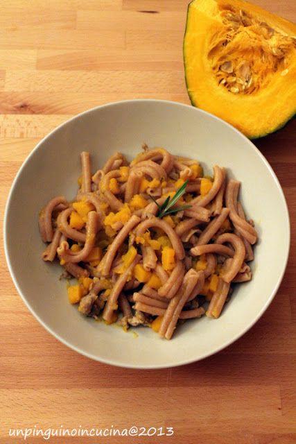 Settembre #Vogliadi #pasta: Caserecce al farro con zucca e salsiccia - Spelt Pasta with Pumpkin and Sausage