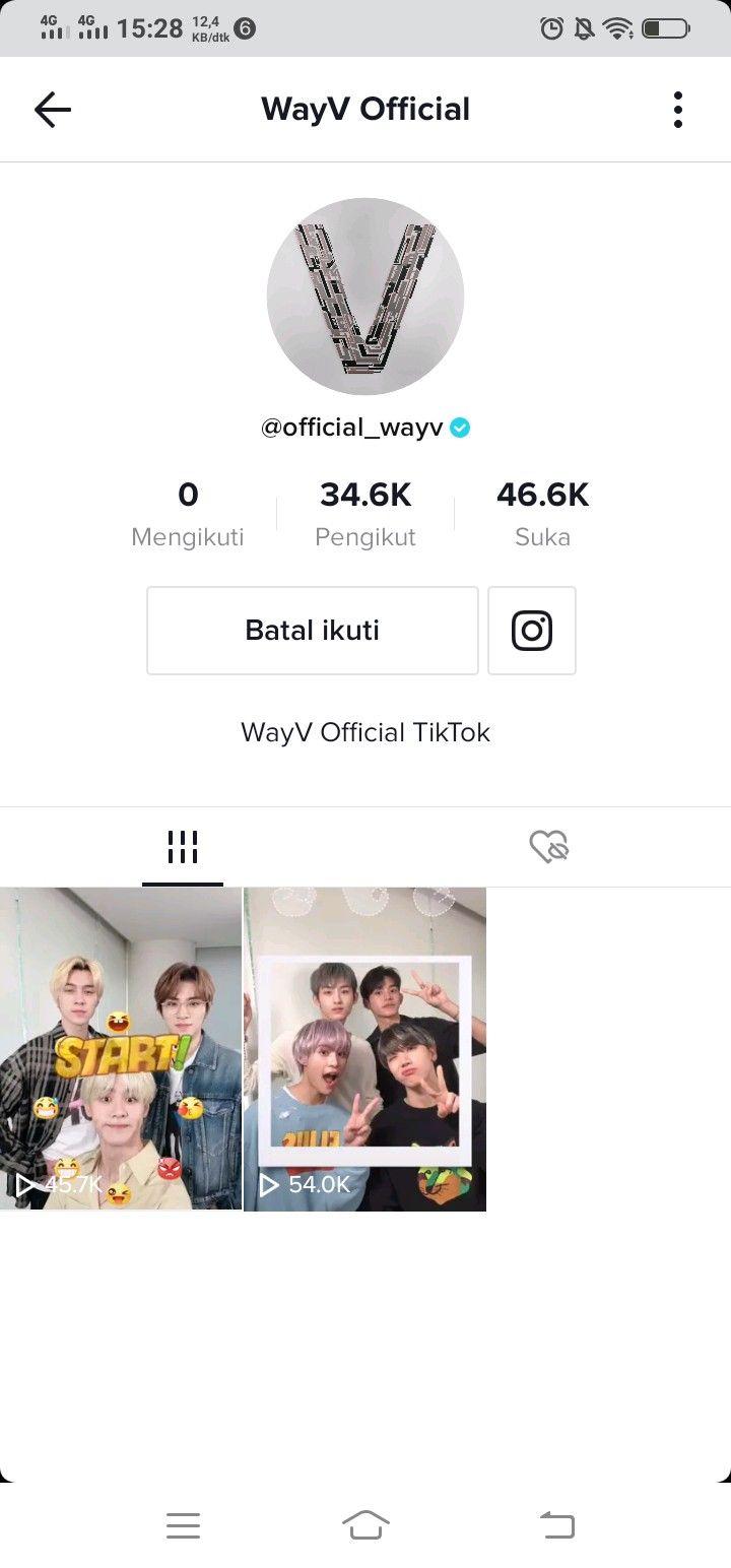 Wayv Official Tiktok Account Pengikut