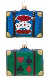 Las Vegas Suitcase < + more whimsical Christmas ornaments