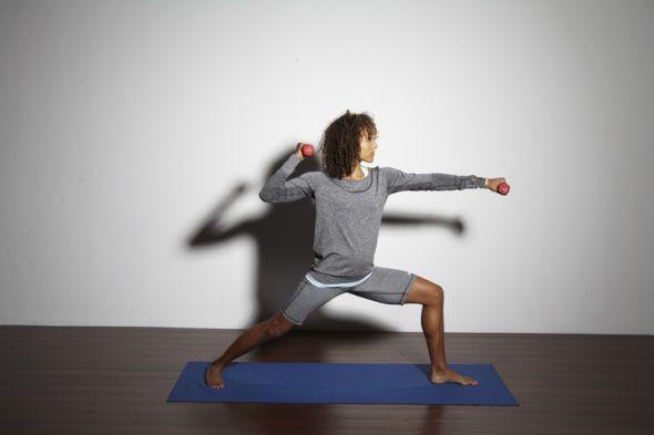 Gymnastik mit Hanteln für Läufer