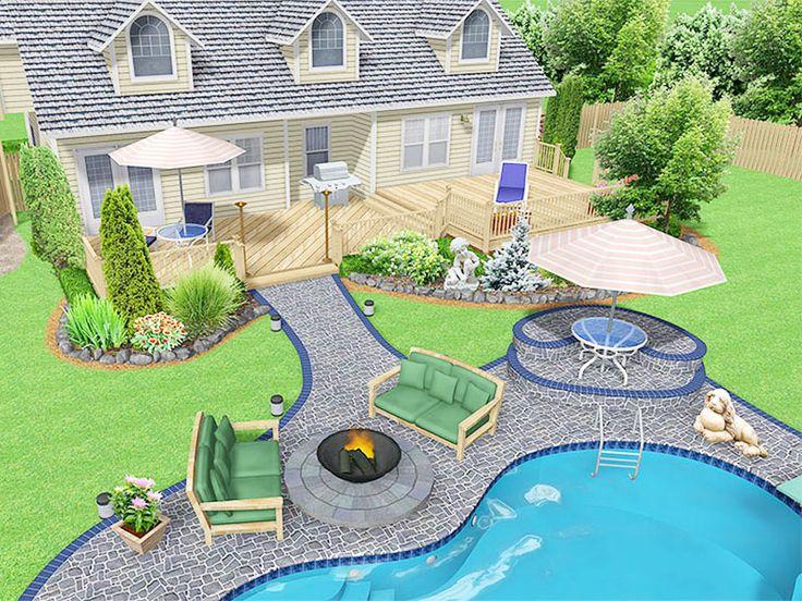 Diy Backyard Landscaping Design Ideas Above Ground Pool