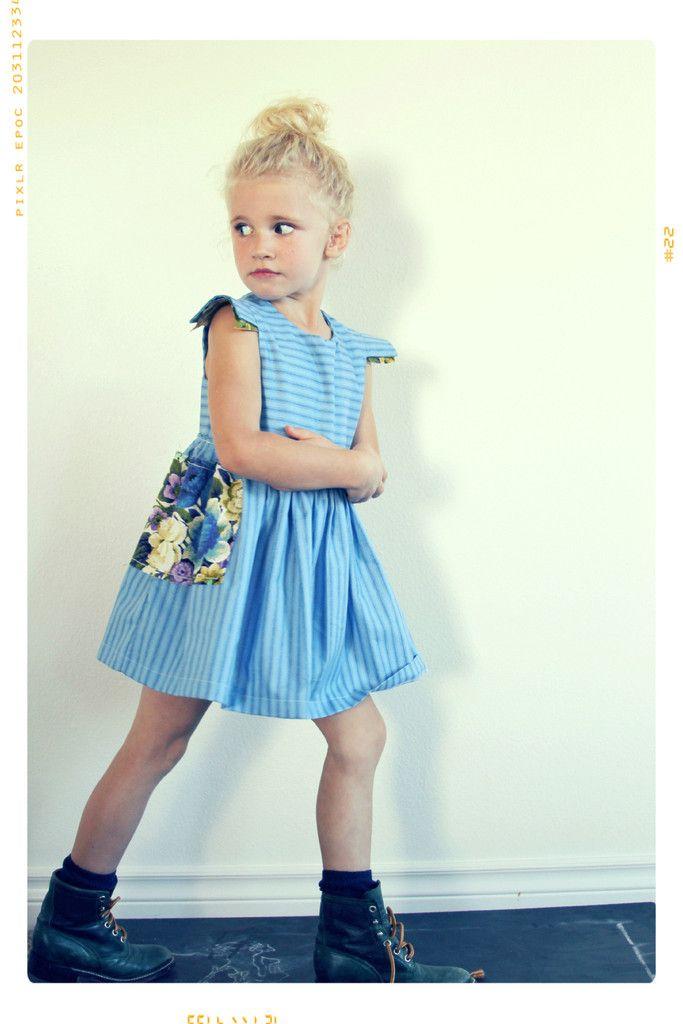 Sarina's Floral Aline Pocket Dress.