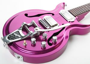 Goulding Magenta Haze all aluminum guitar