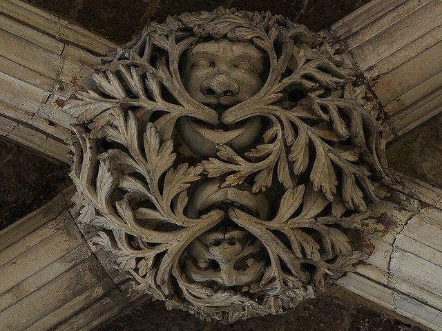Exeter Cathedral - twin Green Men