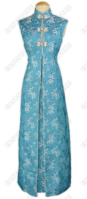Noble Dragon Brocade Wedding Dress more of a Chinese design... like the blue design