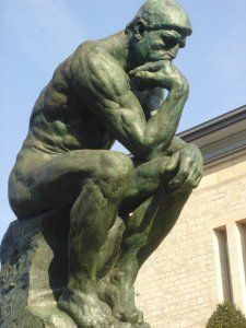 Intellegence and Critical Thinking: Rodin's Thinking Man statue