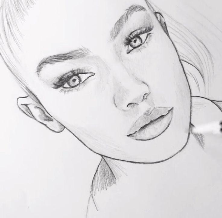 Weinendes Mädchen Zeichnen