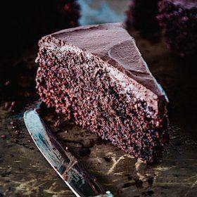 El gluten pastel de chocolate gratis con cacao tostado - Delicioso Todos los días