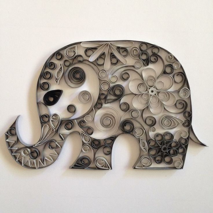 Elephant project quilling pinterest quilling paper for Quilling craft ideas