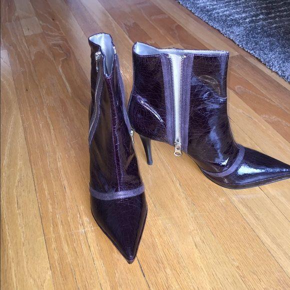Carlos Santana purple ankle boot Worn twice. Animal skin print Carlos Santana Shoes Ankle Boots & Booties
