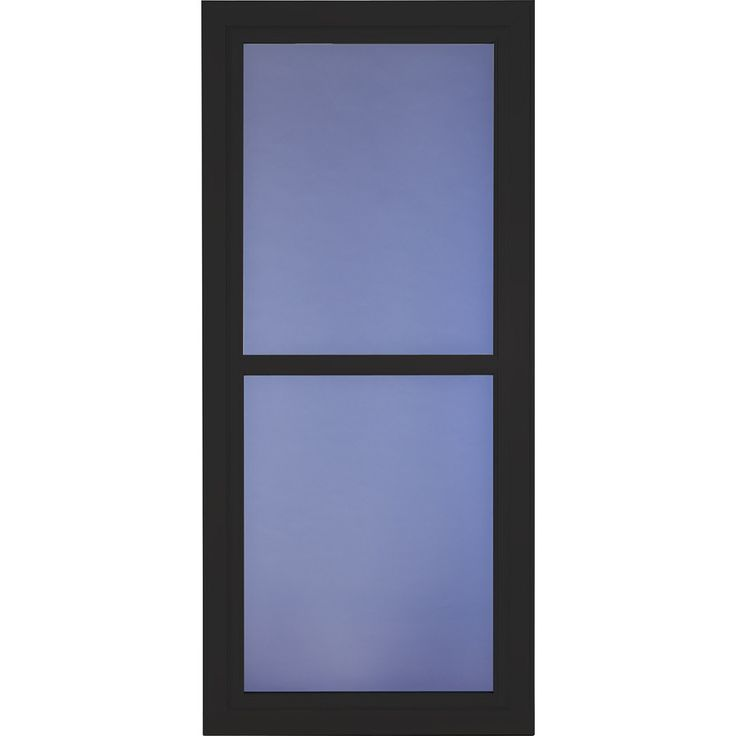 Larson Tradewinds Selection Black Full View Tempered Glass Aluminum Retractable Screen Storm