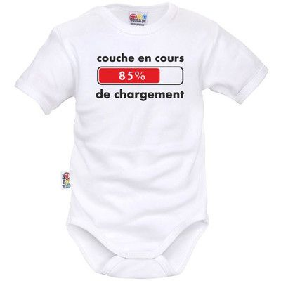 Body bébé rigolo : COUCHE en cours de CHARGEMENT