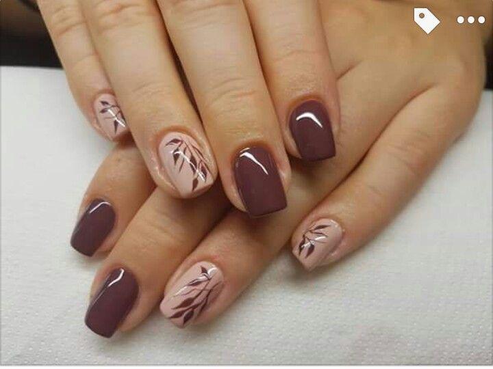 2734 best nails images on pinterest enamels nail polishes and make up - Nageldesign braun beige ...