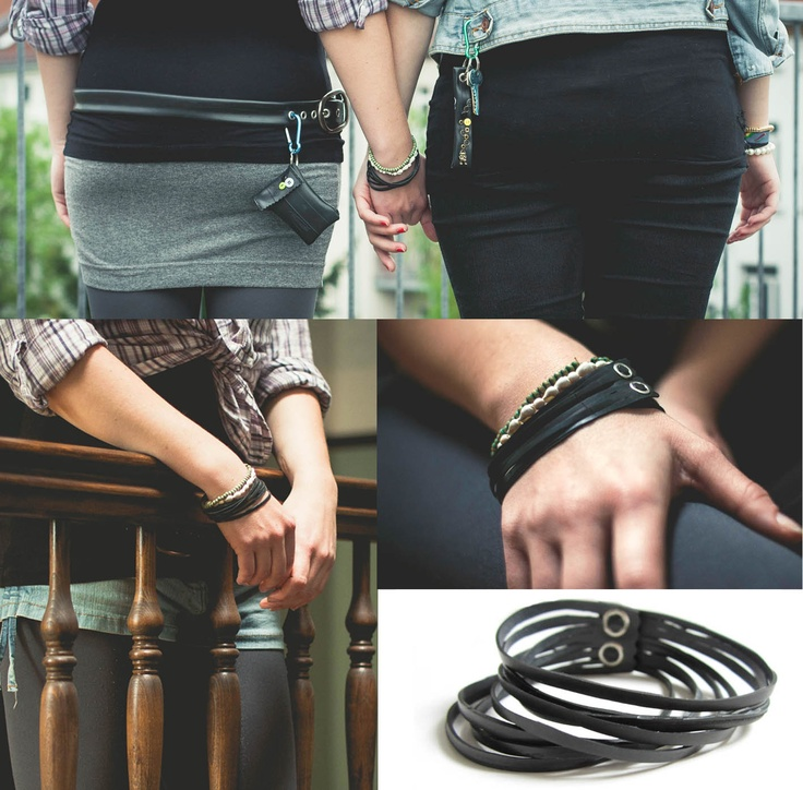 bracelet made of #bicycle inner tube by #tubnub